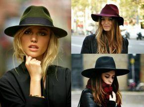 chapeau femme hiver - le Fedora en vert olive, bordeaux et noir est toujours en vogue