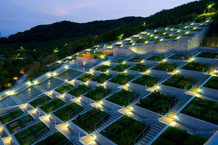 100 level garden in Awaji Yumebutai, Japan   Architect Tadao Ando