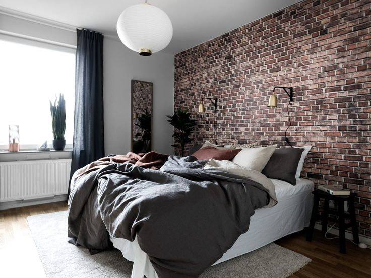 Bedroom with exposed brick wallpaper. Best 25  Brick wallpaper bedroom ideas on Pinterest   Brick