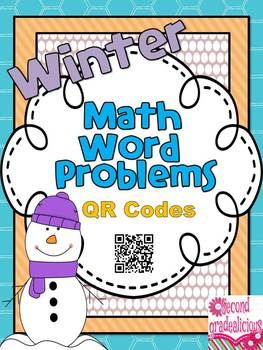 Here's a winter themed addition and subtraction mini booklet with 10 Math word problems (5 Addition and 5 Subtraction) questions. On each page students are asked to solve the problem using pictures, numbers or words.  When they are finished solving the problem they can use a mobile device with a QR Scanner to check their answer.