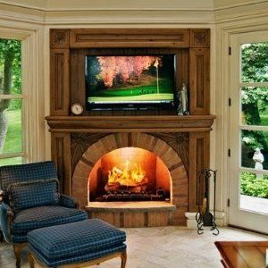 Wood Fireplace Mantel Surrounds . . . Rustic To Country Casual!