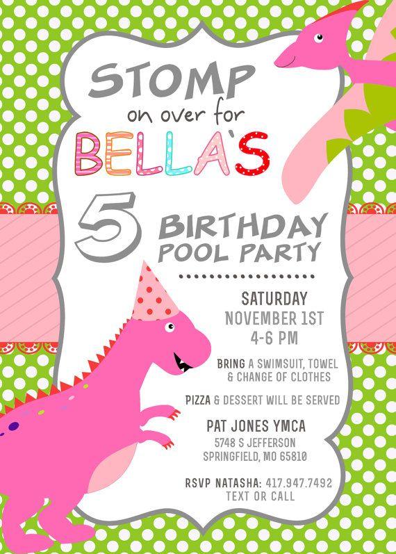 289 best Girl Dinosaur Birthday Party images on Pinterest Dinosaur