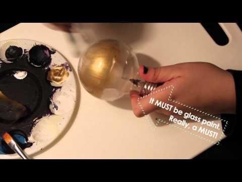 DIY: Designer lightbulb replica & how to paint a lightbubl