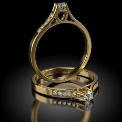 Inel de logodna cu diamante ECHINOX din aur galben
