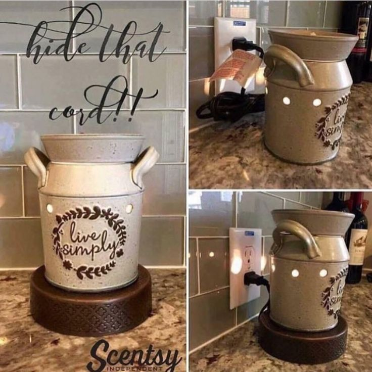 NEW! CORD-CONCEALING WARMER SCENTSY STANDS Stylishly showcase your Warmer while keeping any unused portion of the cord hidden. #decor #interiordesign #style #instadaily ✨