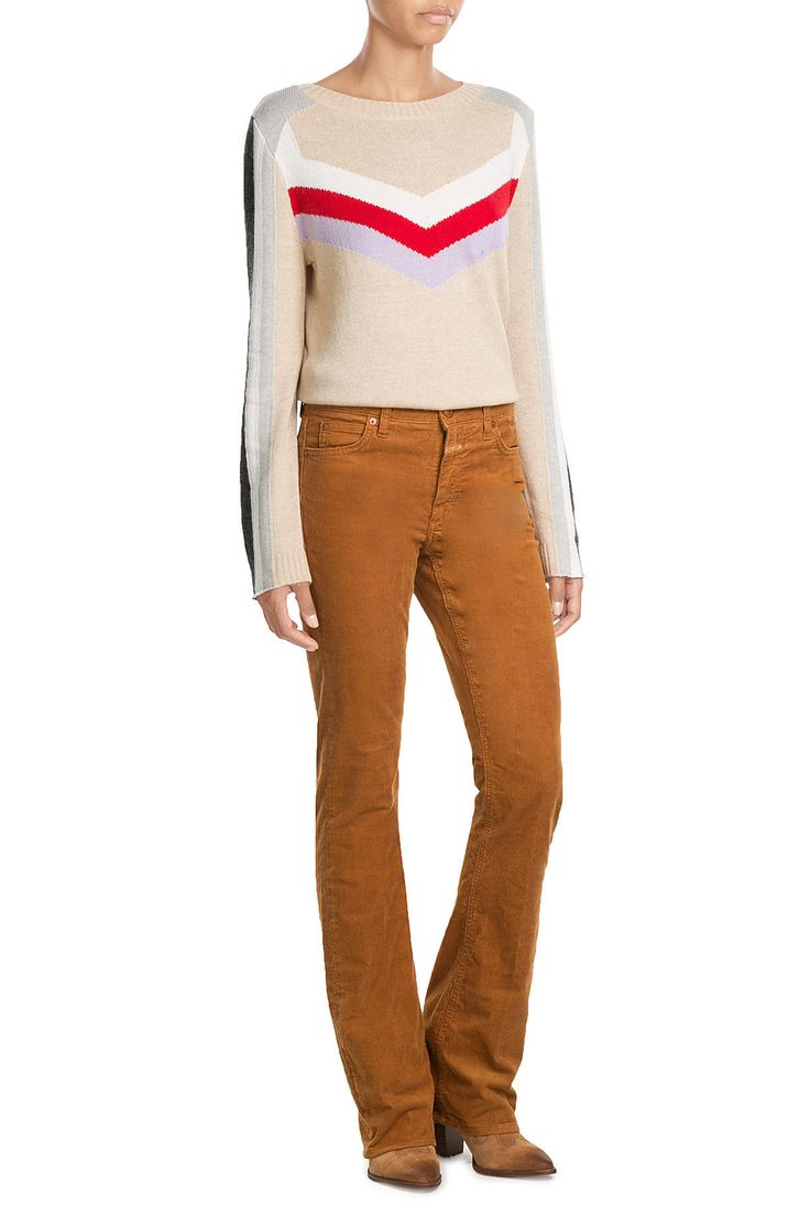 Flared Pants aus Cord - Closed   WOMEN   DE STYLEBOP.COM        Farbe: gelb; 98 % Baumwolle 2 % Elasthan; Gr. 27, 28, 30 und 31; 107 Euro