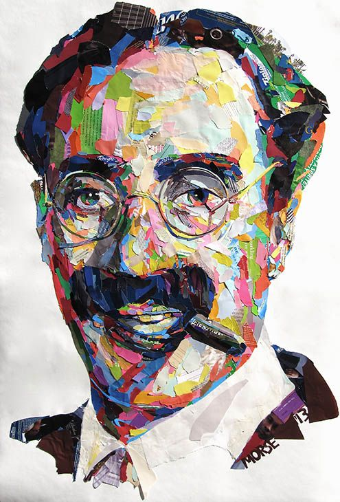 """Groucho Marx"" - Collage Portrait by John Morse / Star Dog Studio"