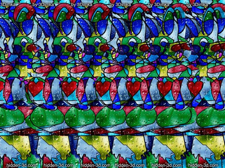 how to look at stereograms