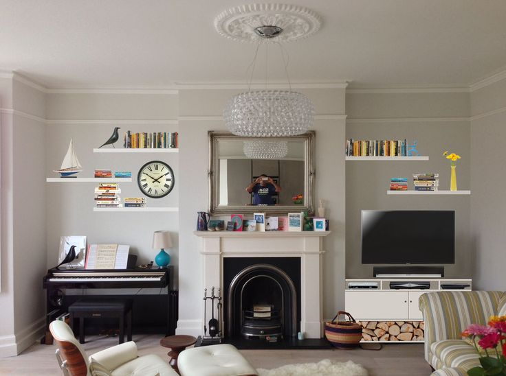 Image result for fireplace alcove