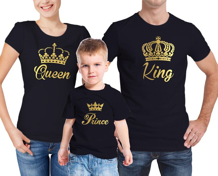 Family King, Queen and prince T-shirts set. by MumKnowsBabyGrows on Etsy