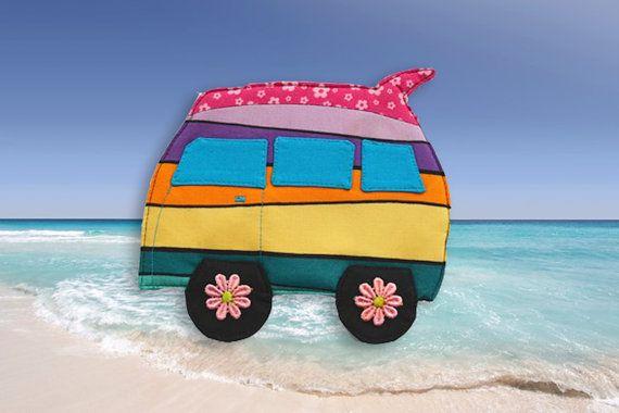 Pink surfboard coaster makeforgood camper van by RobynFayeDesigns