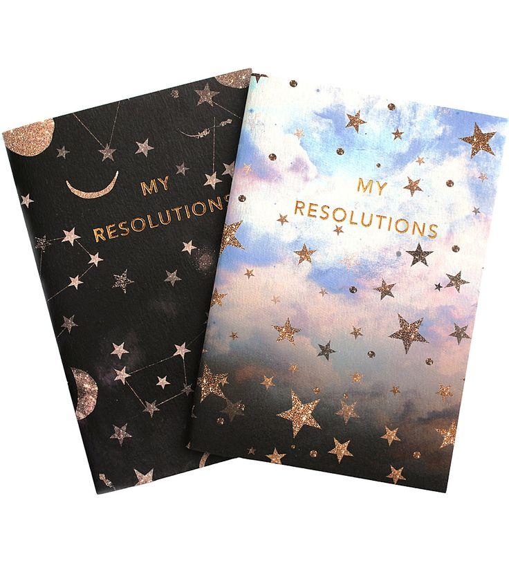 NIKKI STRANGE - My Resolutions A6 notebook set | Selfridges.com