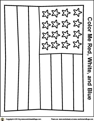 Simple American Flag Coloring Page