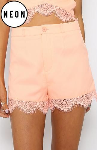 Dirty Habit Shorts - Neon Orange $38