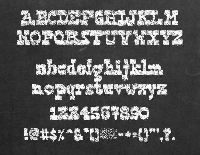 30 Free Chalk Fonts for Graphic Designers