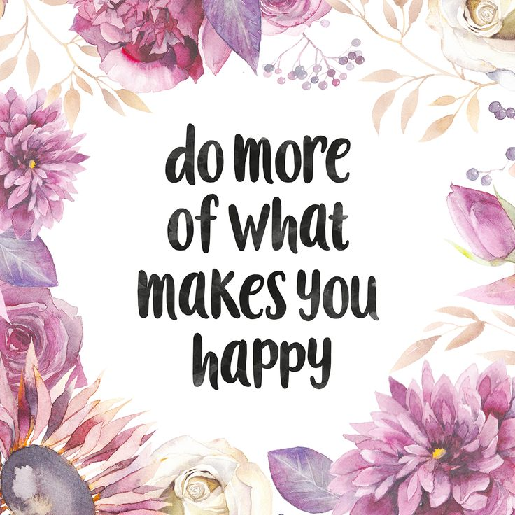 Do more of what makes you happy quote illustration by http://www.johnsomers.nl