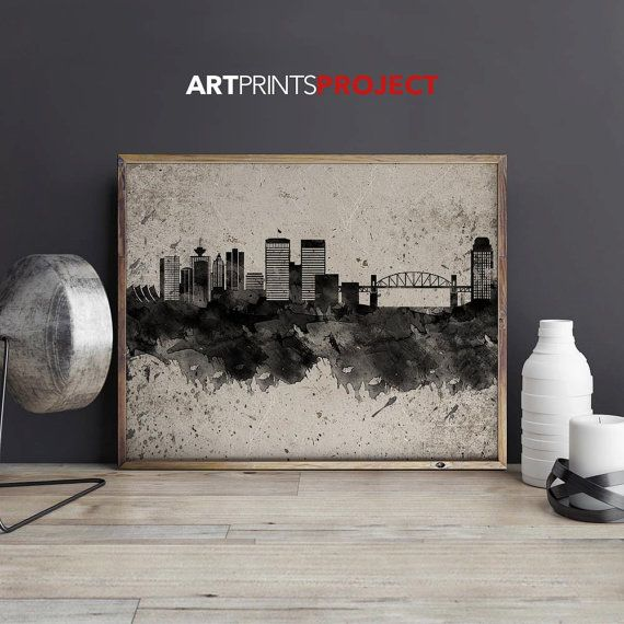 Vancouver print Poster Wall art Vancouver by ArtPrintsProject