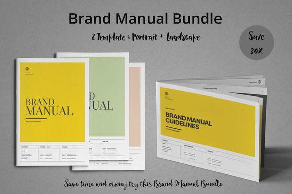 Brand Manual Bundle by fahmie on @creativemarket #bundle #package #BrandManual #logo