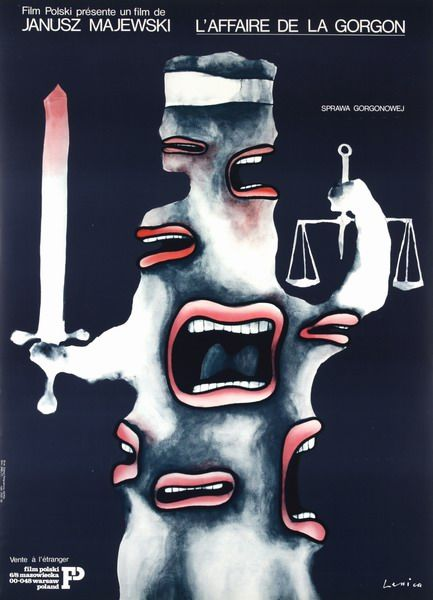 The Gorgon Case L'affairs de la Gorgon, Sprawa Gorgonowej Lenica Jan Polish Poster