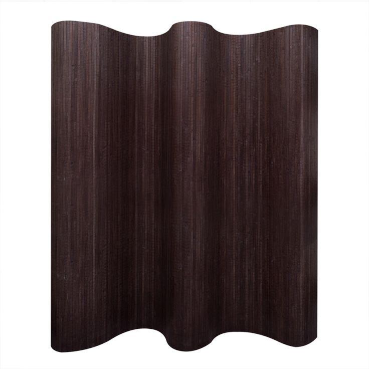 Biombo de bambú, color marrón oscuro