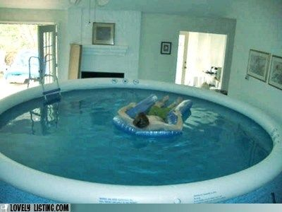 Indoor pool anyone funny real for Maison de luxe interieur