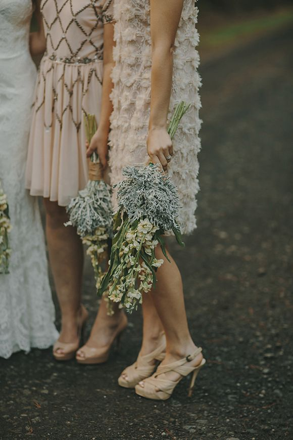 Love these short mix and match bridesmaids