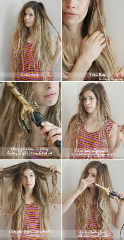Hair Do How-To #6: Beachy Waves 2.0: Grey Hair, Waves 2 0, Beaches Waves, Summer Hair, Long Hair, Beachi Waves, Hair Style, Flats Irons, Waves Hairstyles