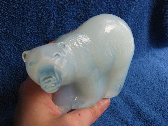 Sweden Reijmyre Paul Hoff glass polar arctic bear by ambergems93
