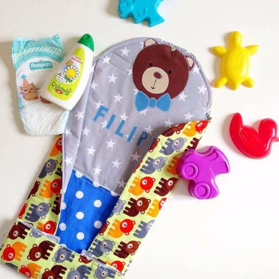 FASCIATOIO DA VIAGGIO neonato Baby Travel Change di LISOLADIPICPIC baby accessories, accessori bambini, drawstring bag, baby diy, fasciatoio bambino