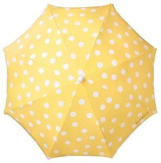 Polka Dot Beach Umbrella - mediterranean - outdoor umbrellas