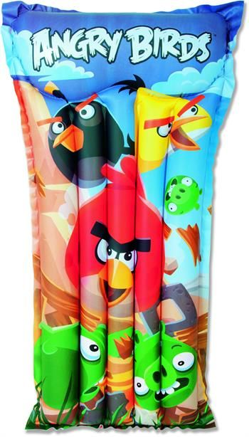 """Bestway Angry Birds Çocuklar İçin Deniz Yatağı 47""""x24"""" Child Air Mat (96104B)"""