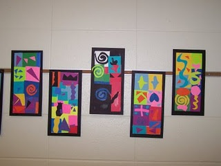 """Collage in """"matisse"""" style... add painted papers"""