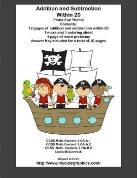 Subtraction within 20 Worksheets