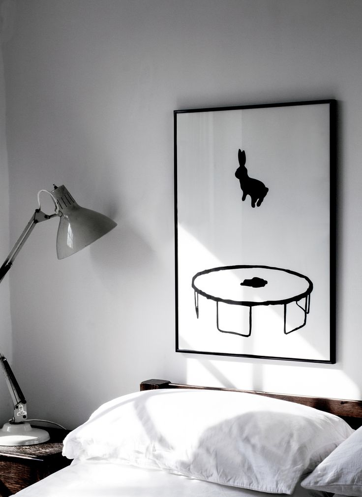 bunny on a trampoline so happy - Bedroom Art Ideas