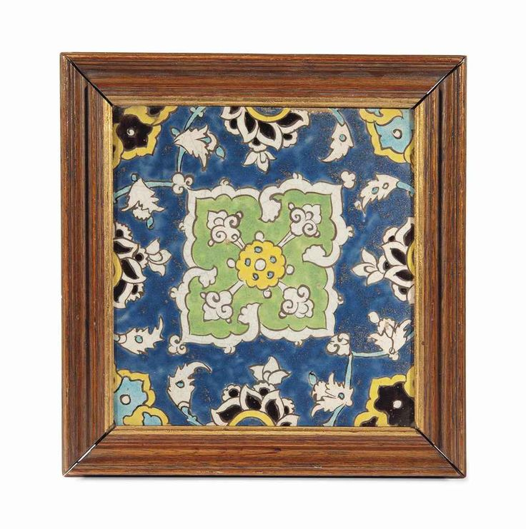 A safavid cuerda seca pottery tile Iran, 17th century