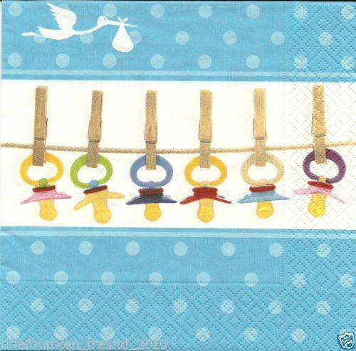 Servilletas para baby shower. http://mundobabyshower.cl/servilletas-baby-soothers-celeste