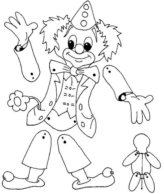 pantin clown articulé maternelle - Recherche Google