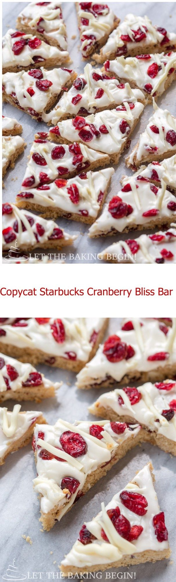 Copycat Starbucks Cranberry Bliss Bars - copy of the original Cranberry Bliss Bar. by Let the Baking Begin!
