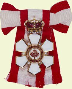 Order of Canada, Sovereign's Badge. People often forget that the Queen of England is Queen in Right of Canada as well. . .