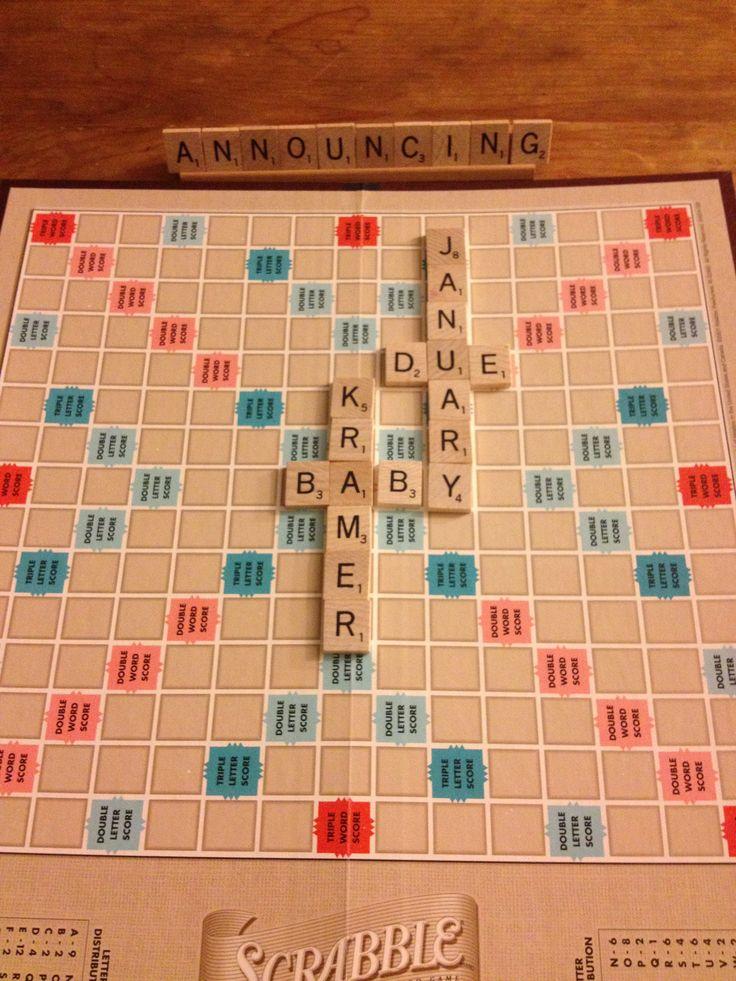 17 Best images about PREGNANCY ANNOUNCEMENT – Scrabble Baby Announcement