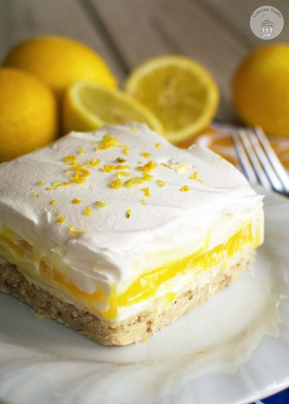 Lemon Lush Dessert - This light and creamy citrus dessert is the perfect treat to enjoy after a delicious summer meal from the grill!