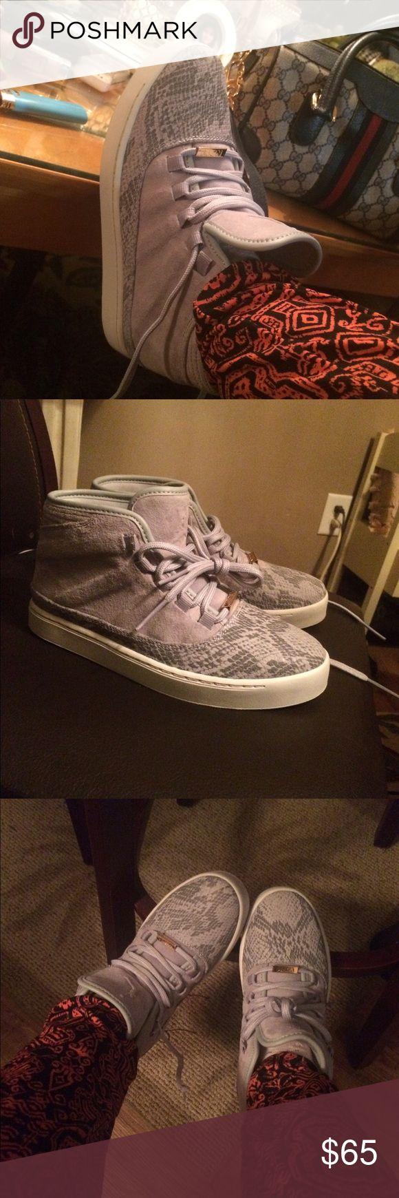 Russel Westbrook Jordan Brand new Russell Westbrook Jordan in size 4 1/2 y. Gray leather n Suede Jordan Shoes