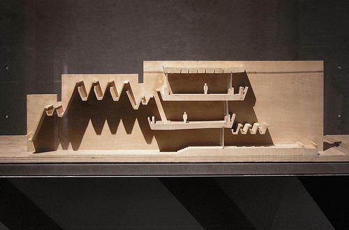 Madrid Opera House competition model - Jorn Utzon