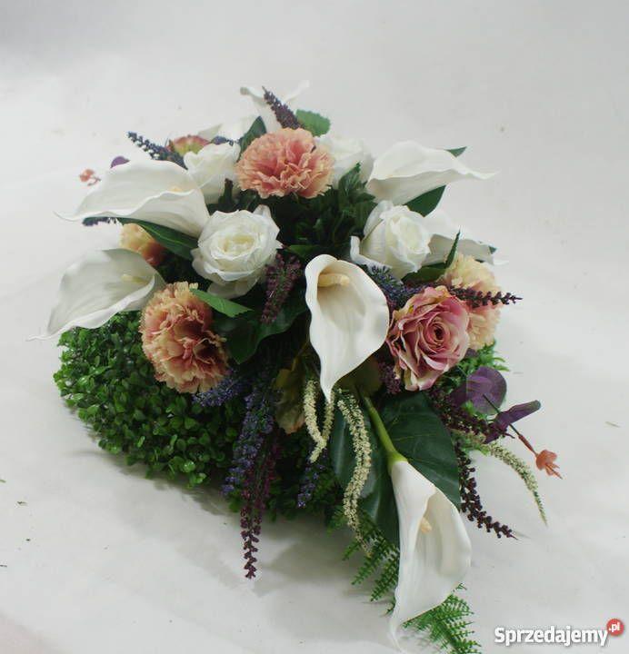 Stroik Na Grob Kompozycja Nagrobna Stroik Na Cmentarz Church Flower Arrangements Flower Arrangements Flowers