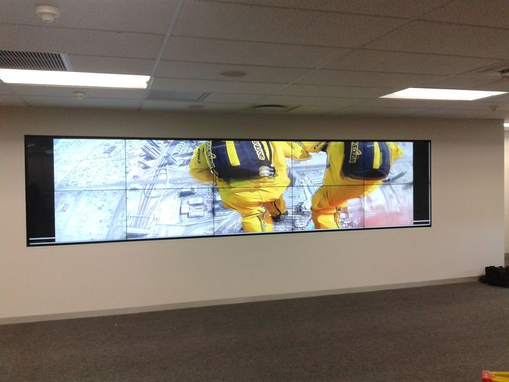 5 x 2 Video wall comprising of ten PVision 49 inch LED monitors.