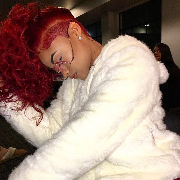 STYLIST FEATURE| This red hair on @indialove is EVERYTHING Styled by #LAStylist @Amazinglystyled❤️ Love that #taperedcut ✂️ by @averyjaames #voiceofhair ========================= Go to VoiceOfHair.com ========================= Find hairstyles and hair tips! =========================