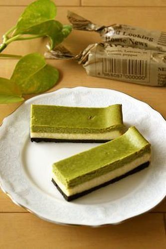 I love anything matcha... and this is cheesecake! | Baked ♬ Matcha Cheesecake Bars ♬
