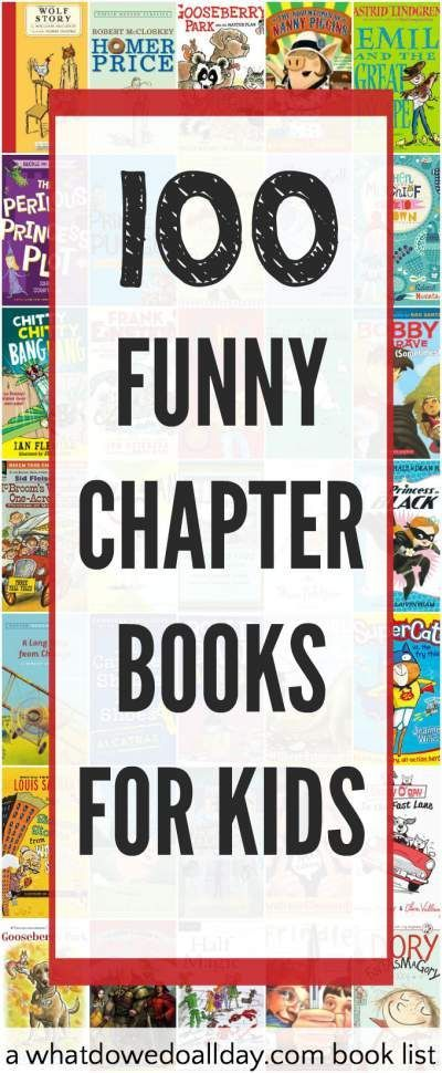 Terrific funny books for kids. Chapter books for all ages. There is a great variety here, from low key to over the top.