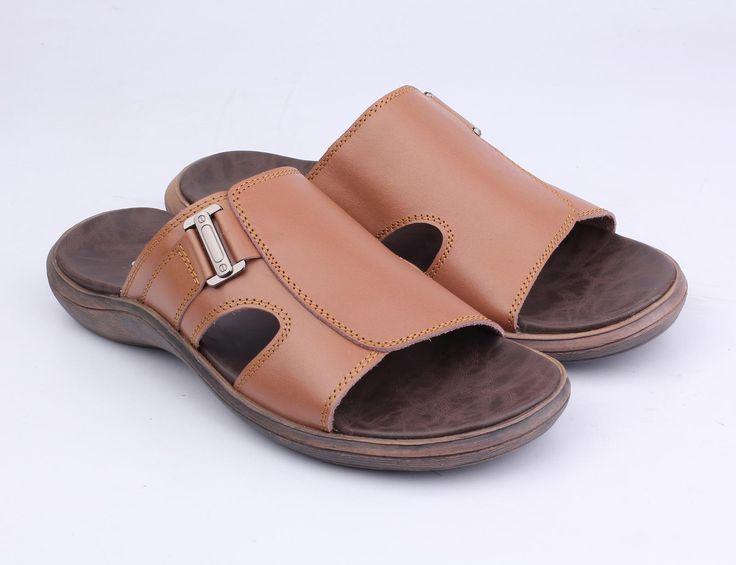 Sandal Kulit Casual Pria - TU 034 - Bushindo Shop
