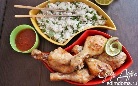 Тайские куриные ножки и кокосовый рис | Кулинарные рецепты от «Едим дома!»